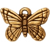 Charm Monarch B-fly Antique Gold